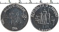 Изображение Монеты Сан-Марино 100 лир 1984 Железо UNC- Гульельмо Маркони