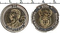 Изображение Монеты ЮАР 5 ранд 2008 Биметалл UNC 90 лет со дня рожден