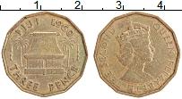 Изображение Монеты Фиджи 3 пенса 1960 Латунь XF