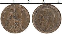 Изображение Монеты Великобритания 1 фартинг 1925 Бронза XF Георг V