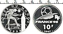 Изображение Монеты Франция 10 франков 1997 Серебро Proof Чемпионат мира по фу