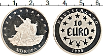 Изображение Монеты Германия 10 евро 1998 Медно-никель Proof Похищение Европы