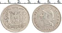 Изображение Монеты Доминиканская республика 1/2 песо 1952 Серебро XF