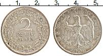 Изображение Монеты Веймарская республика 2 марки 1926 Серебро XF A