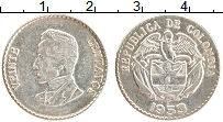 Изображение Монеты Колумбия 20 сентаво 1953 Серебро XF Симон Боливар