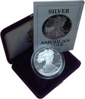 Изображение Подарочные монеты США 1 доллар 1991 Серебро Proof `Монета номиналом 1