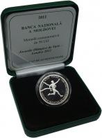 Изображение Подарочные монеты Молдавия 50 лей 2012 Серебро Proof