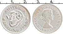 Изображение Монеты Австралия 1 шиллинг 1960 Серебро XF