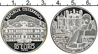 Изображение Монеты Австрия 10 евро 2004 Серебро Proof- Замок Хелльбрунн