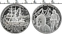 Изображение Монеты Австрия 20 евро 2005 Серебро Proof Адмирал Тегетгоф.Кар
