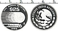 Изображение Монеты Мексика 25 песо 1985 Серебро Proof-