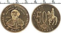 Изображение Монеты Мальта 50 евроцентов 2004 Латунь UNC Ла Валлетте.Проба