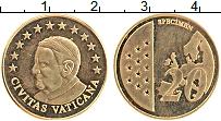 Изображение Монеты Ватикан 20 евроцентов 2010 Латунь UNC Проба.Бенедикт XVI