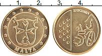Изображение Монеты Мальта 50 евроцентов 2004 Латунь UNC Проба.Герб