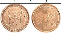 Изображение Монеты Мальта 2 евроцента 2004 Бронза UNC Проба.Герб