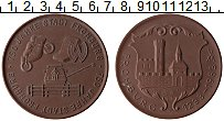 Изображение Монеты ГДР Медаль 1983 Фарфор UNC 750 лет Фронбургу