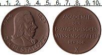 Изображение Мелочь ГДР Медаль 0 Фарфор UNC Песталоцци