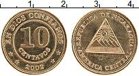 Изображение Монеты Никарагуа 10 сентаво 2002 Латунь UNC-