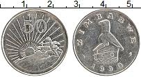 Изображение Монеты Зимбабве 50 центов 1990 Медно-никель UNC-