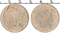 Изображение Монеты Испания 500 песет 1997 Латунь XF