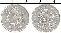 Изображение Монеты Мексика 25 сентаво 1950 Серебро XF