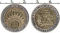 Изображение Монеты Аргентина 1 песо 2010 Биметалл UNC-