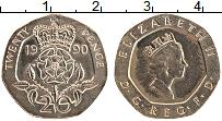 Изображение Монеты Великобритания 20 пенсов 1990 Медно-никель UNC-