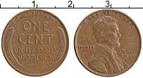 Изображение Монеты США 1 цент 1946 Бронза XF