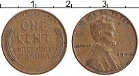 Изображение Монеты США 1 цент 1946 Бронза XF Авраам Линкольн