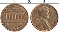 Изображение Монеты США 1 цент 1961 Бронза XF Авраам Линкольн