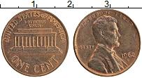 Изображение Монеты США 1 цент 1962 Бронза XF D. Авраам Линкольн