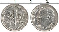 Изображение Монеты США 1 дайм 1989 Медно-никель XF