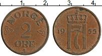 Изображение Монеты Норвегия 2 эре 1955 Бронза XF
