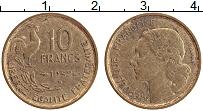 Изображение Монеты Франция 10 франков 1952 Латунь XF В