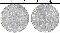 Изображение Монеты Веймарская республика 200 марок 1923 Алюминий XF+