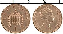 Изображение Монеты Великобритания 1 пенни 1990 Бронза UNC- Елизавета II.