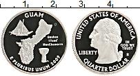 Изображение Монеты США 1/4 доллара 2009 Медно-никель Proof S. Дж.Вашингтон. Гуа