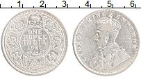 Изображение Монеты Британская Индия 1 рупия 1920 Серебро XF