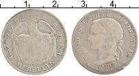 Изображение Монеты Колумбия 2 десимо 1874 Серебро VF