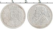 Изображение Монеты ЮАР 6 пенсов 1896 Серебро XF Поль Крюгер