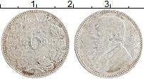 Изображение Монеты ЮАР 6 пенсов 1893 Серебро VF Поль Крюгер