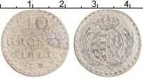 Изображение Монеты Польша 10 грошей 1813 Серебро VF