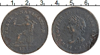 Изображение Монеты Канада 1 пенни 1838 Медь VF Токен.Фемида