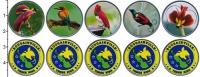 Изображение Наборы монет Папуа-Новая Гвинея 5 песо 2020 Медно-никель UNC UNUSUAL. В наборе 5