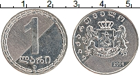 Изображение Монеты Грузия 1 лари 2006 Медно-никель XF