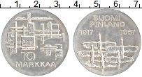 Изображение Монеты Финляндия 10 марок 1967 Серебро XF 50 лет независимости