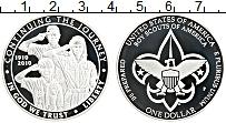 Изображение Монеты США 1 доллар 2010 Серебро Proof 100 лет бойскаутам А