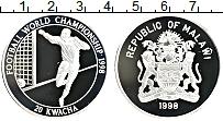 Изображение Монеты Малави 20 квач 1998 Серебро Proof Чемпионат мира по фу