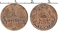 Изображение Монеты Латвия 1 сантим 1928 Медь VF