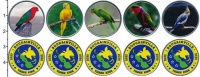 Изображение Наборы монет Папуа-Новая Гвинея 2 кины 2020 Медно-никель UNC В наборе 5 монет ном